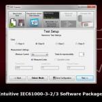 Oprogramowanie IECSoft oferuje intuicyjny interfejs użytkownika dla łatwiejszej interpretacji wyników z pomiaru zgodnych z normą IEC61000